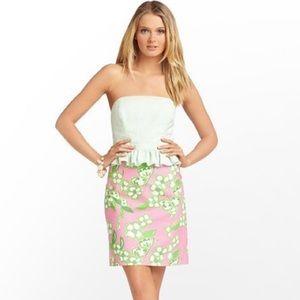 Lilly Pulitzer Pink Tootie Peplum Dress
